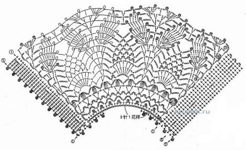 Вязаные воротнички. Работы Альбины Петровны вязание и схемы вязания