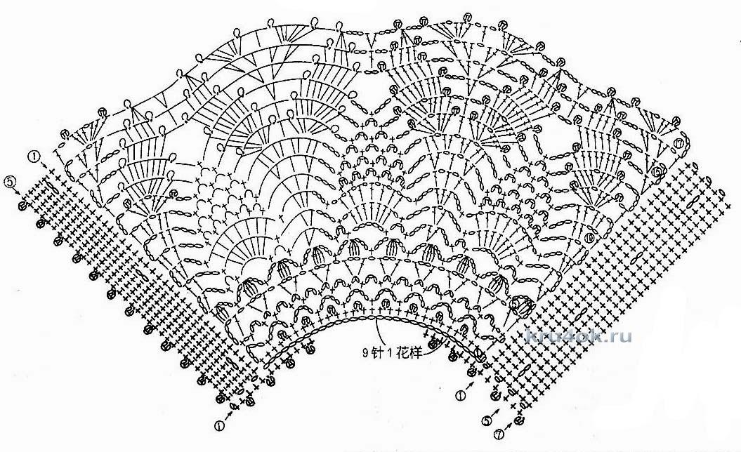 Красивые салфетки схемы вязания