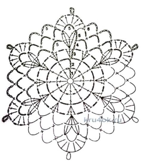 Вязаный крючком топ. Работа Марии вязание и схемы вязания