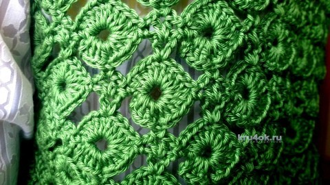 Вязаный жилет. Работа Елены вязание и схемы вязания