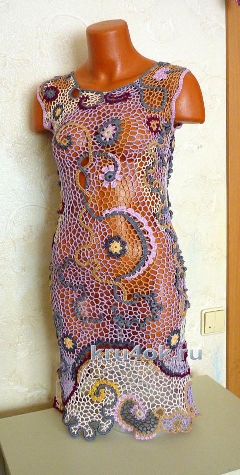 Авторское платье Женевьева. Работа Олеси Петровой вязание и схемы вязания