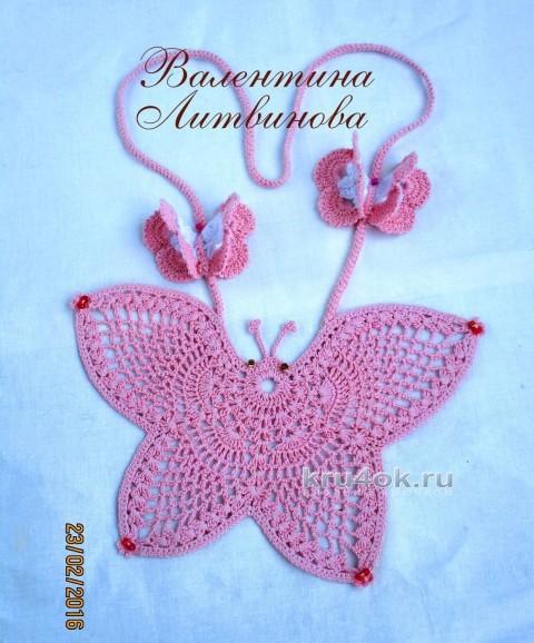 Бабочка - оберег. Работа Валентины Литвиновой вязание и схемы вязания