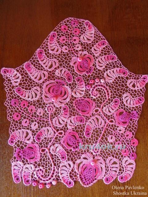 Блуза Камелия. Работа Елены Павленко вязание и схемы вязания