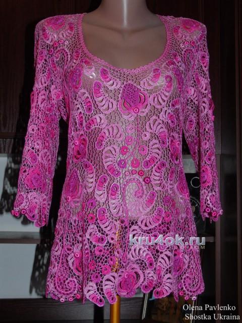 Блуза Камелия. Работа Елены Павленко