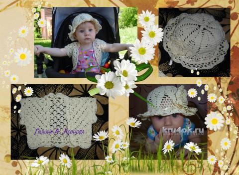Болеро и панамка для девочки. Работы Галины Леоновой вязание и схемы вязания