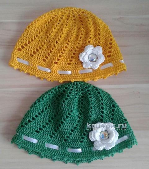 Детские шапочки крючком. Работы Анны Бурмистровой вязание и схемы вязания
