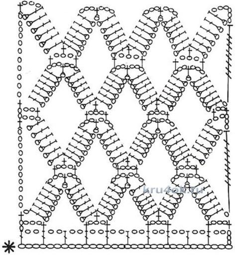 Кофта в крупную сетку крючком. Работа Ксении вязание и схемы вязания