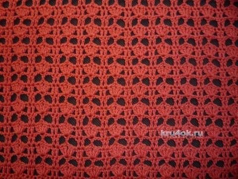 Летняя ажурная кофточка крючком. Работа Елены Владимировны вязание и схемы вязания