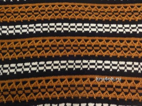 Мужской свитер крючком. Работы Яны вязание и схемы вязания