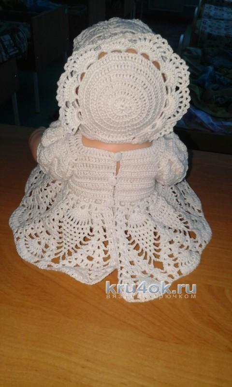 Одежда для куклы. Работа Марины Гололобовой вязание и схемы вязания