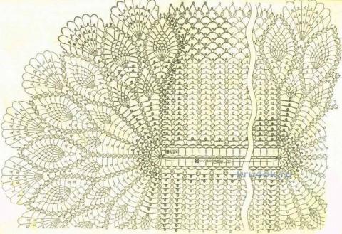 Овальная салфетка. Работа Оксаны Федотовой вязание и схемы вязания