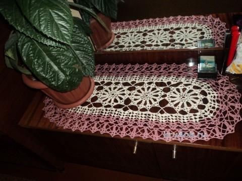 Овальная салфетка. Работа Ольги вязание и схемы вязания
