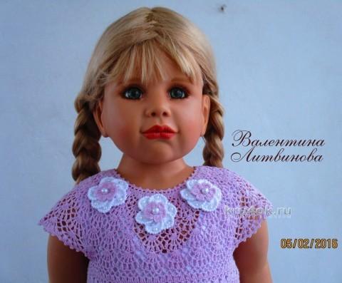 Платье для девочки Юная леди. Работа Валентины Литвиновойа вязание и схемы вязания