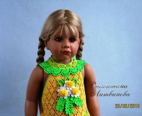Платье Дыхание Весны. Работа Валентины Литвиновой вязание и схемы вязания