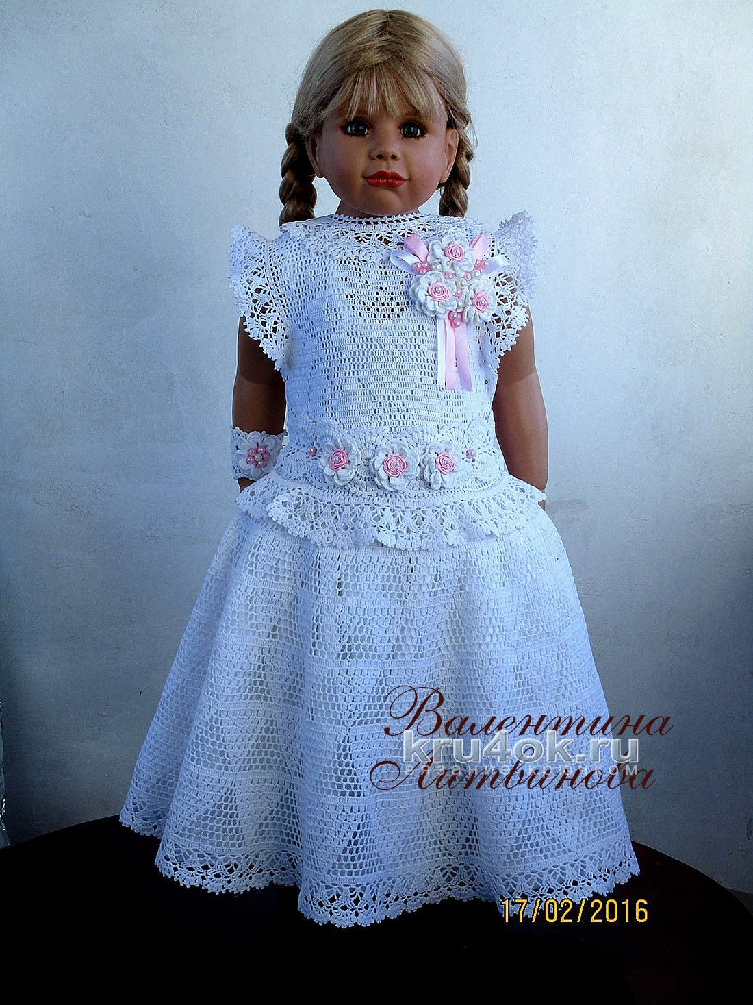 Вязания крючком платья для принцесс