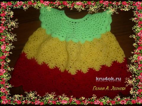 Платье Светофор. Работа Галины Леоновой вязание и схемы вязания
