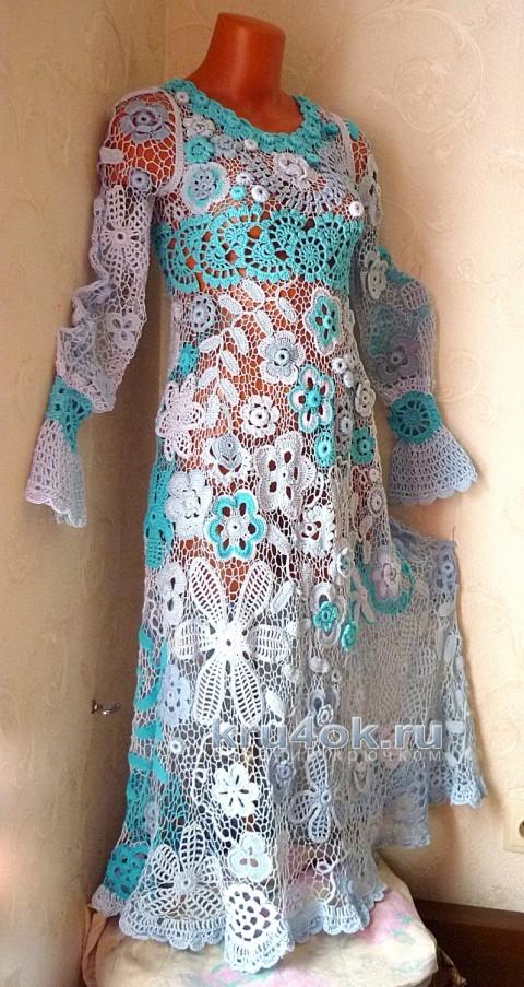 Платье Воздушное. Работа Олеси Петровой вязание и схемы вязания