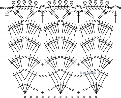 Сарафан для девочки. Работа Галины Леоновой вязание и схемы вязания