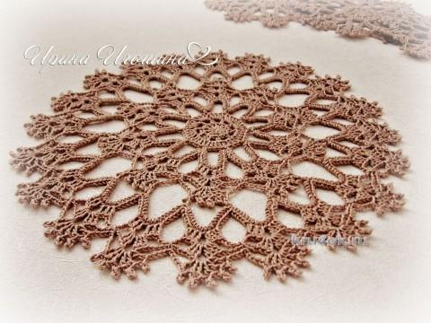 Сервировочный комплект салфеток Восточный базар вязание и схемы вязания