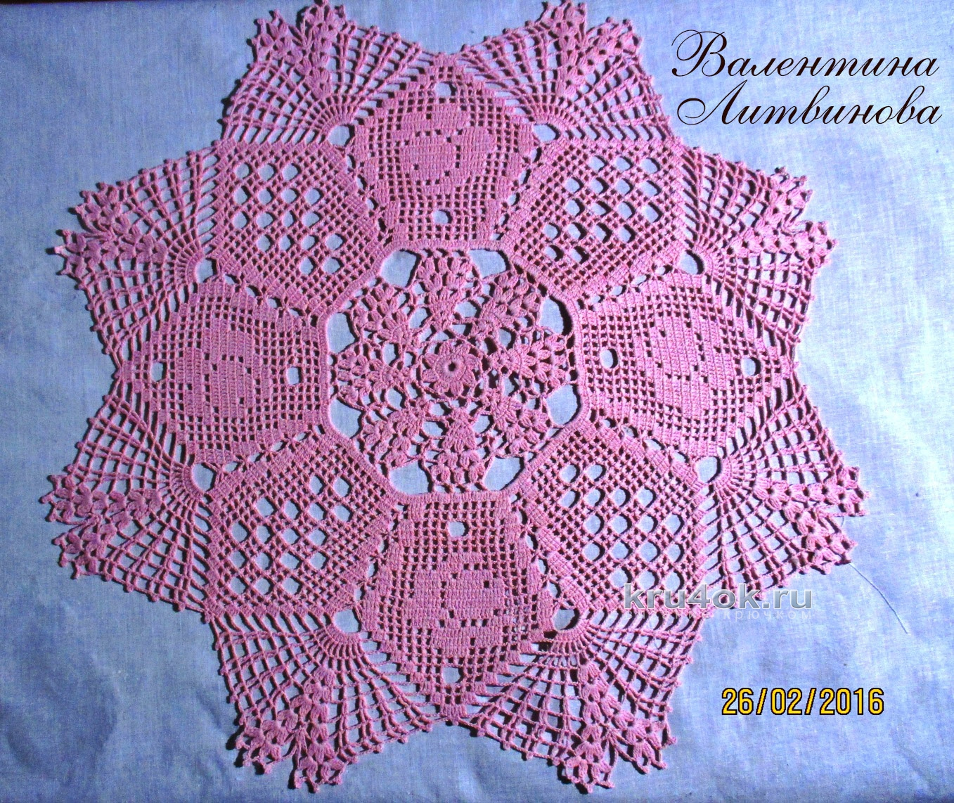 Польские салфетки крючком схема #13