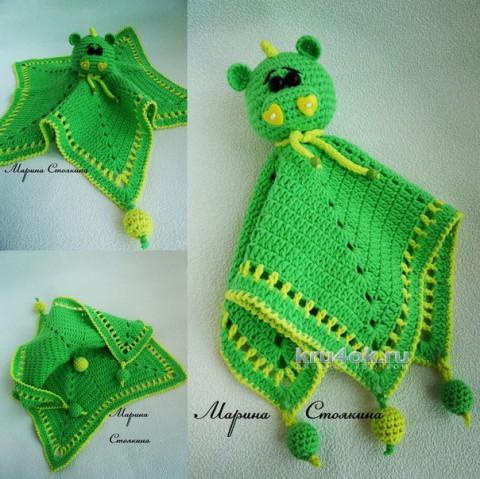 Вязаная игрушка - комфортер. Работа Марины Стоякиной вязание и схемы вязания