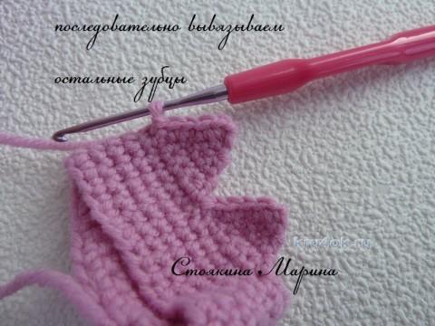 Вязаная корона. Мастер - класс от Марины Стоякиной вязание и схемы вязания