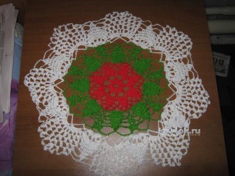 Вязаная салфетка. Работа Ольги Царевой вязание и схемы вязания