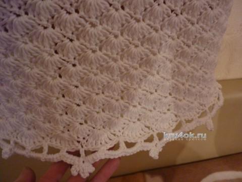 Вязаное крючком платье. Работа Олеси Петровой вязание и схемы вязания