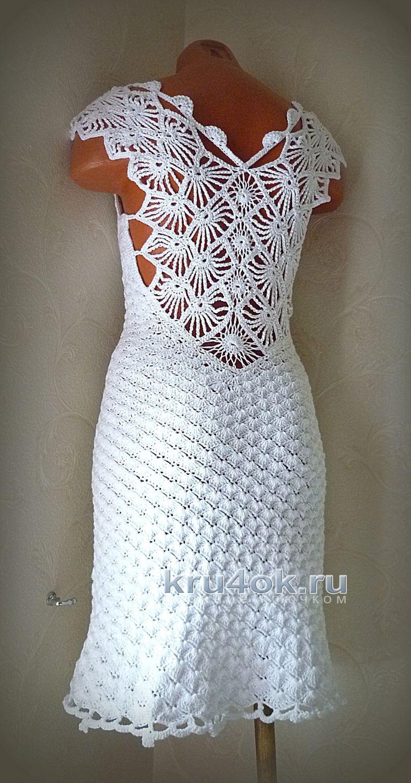 Вязаное крючком платье. Работа Олеси Петровой