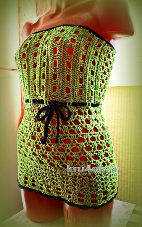 Вязаные крючком топы. Работы Олеси Петровой вязание и схемы вязания