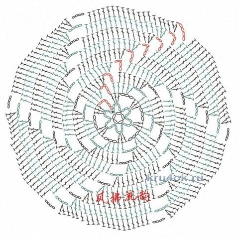 Вязаный крючком топ. Работа Ольги вязание и схемы вязания