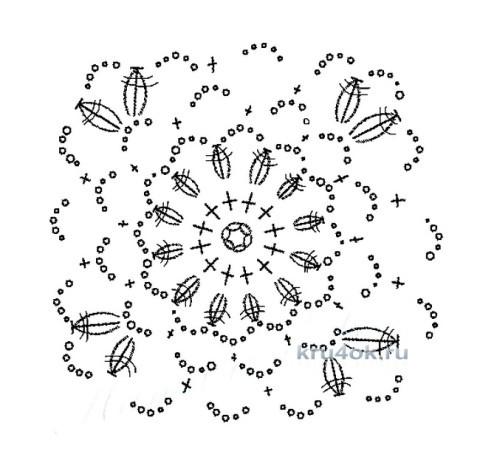 Вязаный крючком топ. Работа Светланы Клименко вязание и схемы вязания