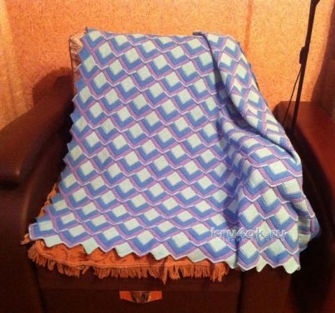 Вязаный плед. Работа Татьяны вязание и схемы вязания