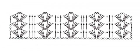 Схема вязания безрукавки: