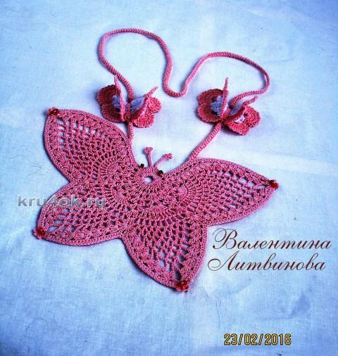Бабочка - оберег. Работа Валентины Литвиновой