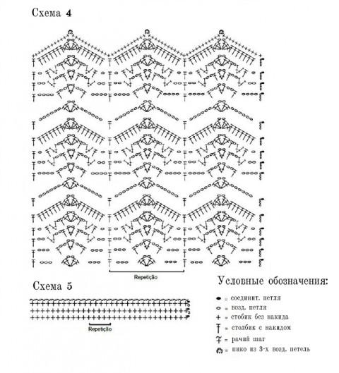 Оригинальные схемы для вязания платья: