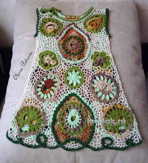 Авторское платье Камея. Работа Олеси Петровой вязание и схемы вязания