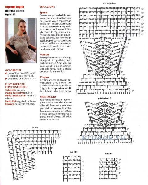 Ажурная кофточка. Работа Ирины вязание и схемы вязания