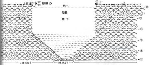 ажурные схемы вязания туники