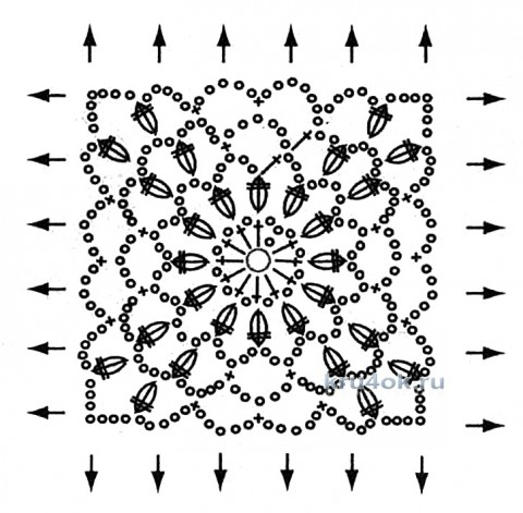 Ажурная туника для девочки. Работа Тамары Матус вязание и схемы вязания