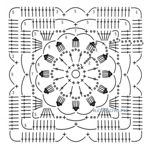 Ажурная туника Изумрудная россыпь. Работа Тамары Матус вязание и схемы вязания