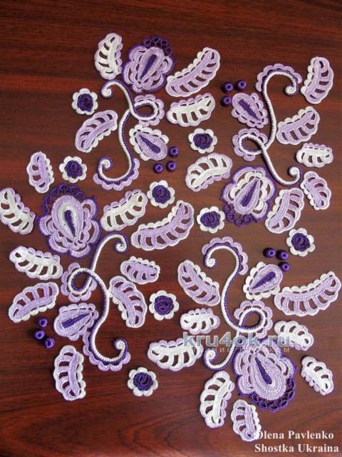Блуза Аромат сирени. Работа Елены Павленко вязание и схемы вязания