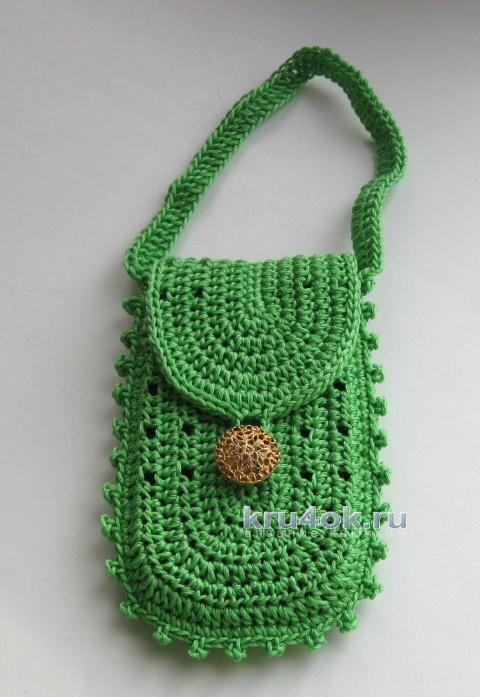Чехол для мобильного телефона. Работа Наталии вязание и схемы вязания