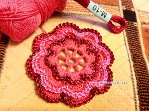 Чехол для подушки. Работа Надежды Борисовой вязание и схемы вязания