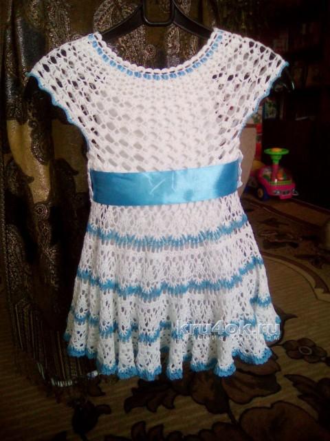 Детское платье крючком. Работы Ирины вязание и схемы вязания