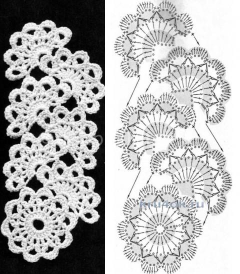 Как связать ожерелье — воротничок вязание и схемы вязания