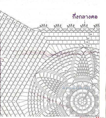 Кофточка - медузка крючком. Работа Евгении Руденко вязание и схемы вязания