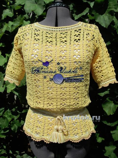 Летняя кофточка. Работа Натальи Ишковой вязание и схемы вязания