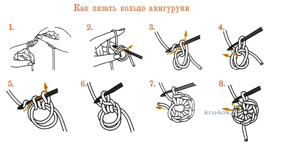 Крючок кольцо амигуруми вязать