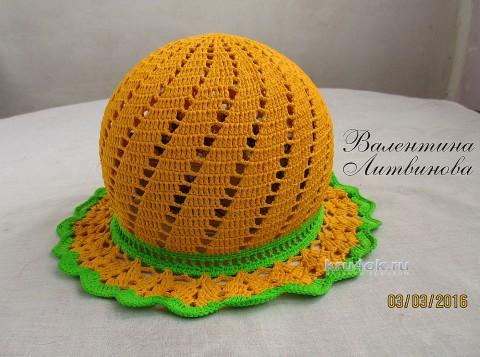 Мастер-класс Валентины Литвиновой по вязанию крючком детской шапочки–панамочки